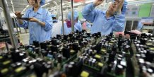 Contraction de l'activite manufacturiere en chine