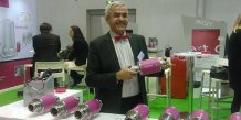 Philippe Passani avec le Smart glass d'Inozy