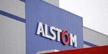 Alstom, plus forte baisse du cac 40 a la mi-seance