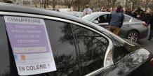 Suspension du service uber par solidarite avec les chauffeurs de vtc