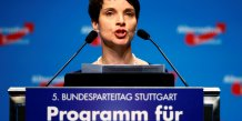 Fin du congres du parti anti-immigration allemand afd