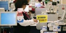 Japon caissière salarié