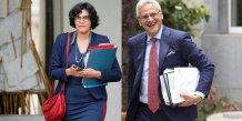 Montage de la ministre française du Travail Myriam El Khomri et du vice-premier ministre belge et ministre de l'Emploi Kris Peeters