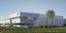 Vue d'artiste de la future usine de DMS, qui s'étendra sur 5 500 m2 à Gallargues