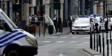 La police deployee a bruxelles apres le signalement d'un suspect
