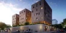 Perspective du futur siège d'Hérault Habitat, livrable en 2018