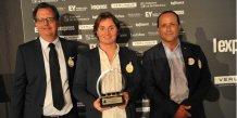 Vincent Daffourd accompagné d'Alex Larue, avocat-associé EY Montpellier (à gauche) et Christian Malaterre, président de Réseau Entreprendre Provence (à droite)
