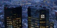 Pas d'aides gouvernementales pour deutsche bank