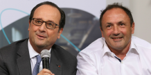 François Hollande et Ludovic Le Moan