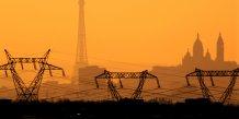 France, électricité, lignes à haute tension, énergie, pylones, tour Eiffel, sacré-coeur, EDF,