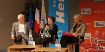 P. Viallet (LeadeR Occitanie) et N. Bigas (Club des Présidents), entourant N. Lepage, ex-ministre et fondatrice du MENE