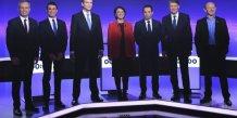 Dernier debat des candidats a la primaire, haro sur macron