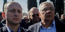 Montenegro, parlementaires, immunité, Milan Knezevic (L) and Andrija Mandic, Podgorica,