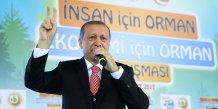 Erdogan evoque un referendum sur la candidature turque a l'ue