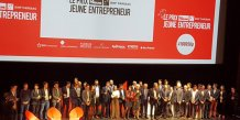 Les finalistes, partenaires et participants au PLTJE 2017, le 28 mars sur la scène du Grand Rex à Paris