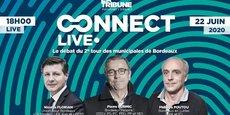 Nicolas Florian, Pierre Hurmic et Philippe Poutou débattront des sujets économiques le lundi 22 juin à 18h.