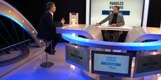 Christophe Remy, CEO de Fingermind, présente le développement de logiciels pour la maintenance aéronautique.