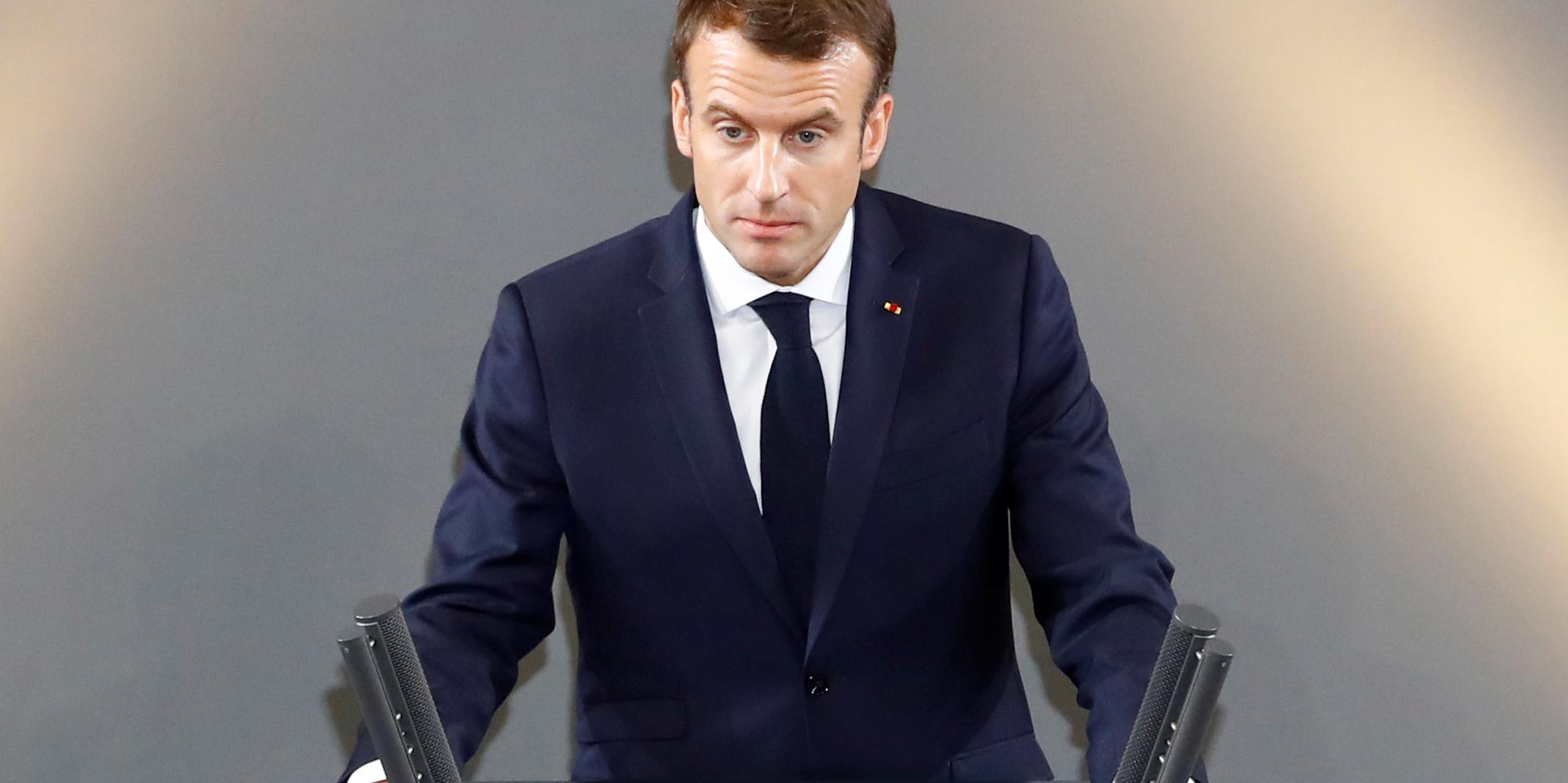"""A Berlin, Macron prône une Europe """"plus forte"""" et """"plus souveraine"""""""
