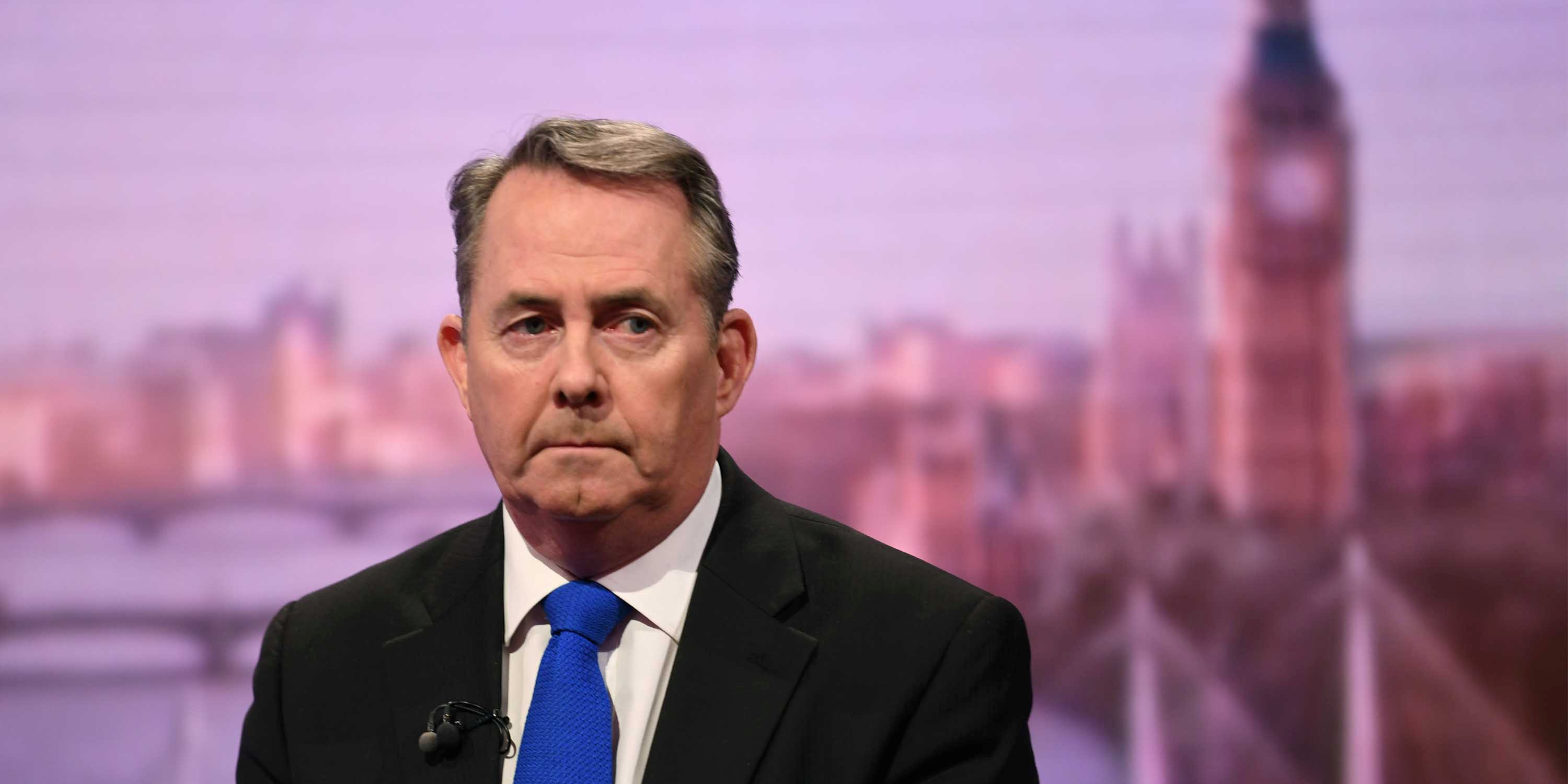 A Davos, Liam Fox espère signer des accords internationaux post-Brexit