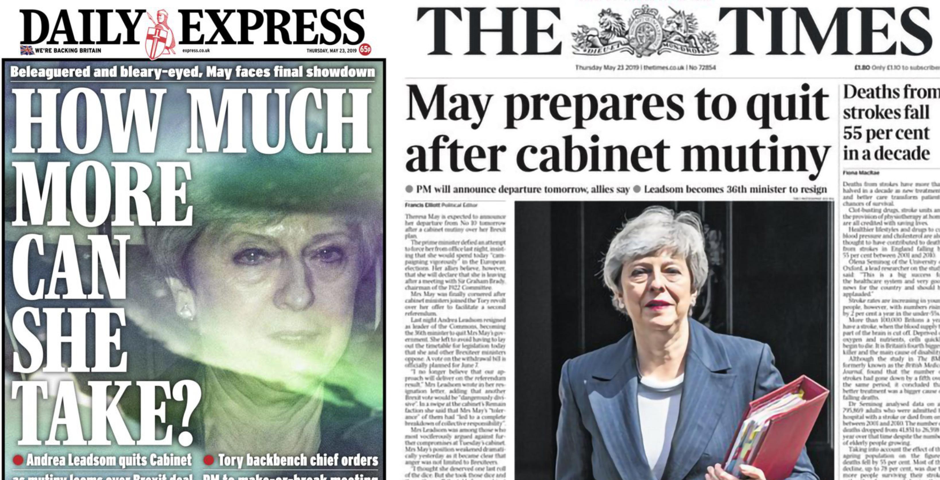 Après la rébellion de son cabinet, Theresa May devrait démissionner vendredi