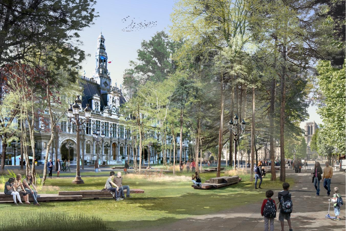 """Paris : Hidalgo promet quatre """"forêts urbaines"""""""