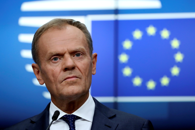 """Brexit : Tusk recommande aux Vingt-Sept d'accepter un nouveau report pour éviter un """"no deal"""""""