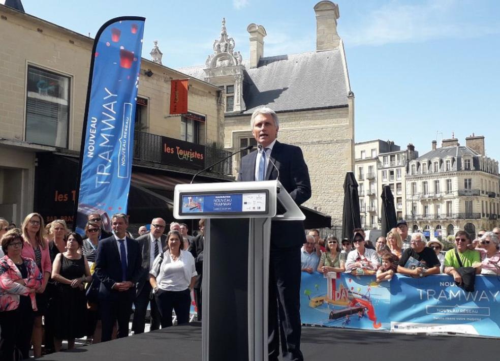 Caen inaugure son nouveau tramway, signé Alstom, à 260 millions d'euros