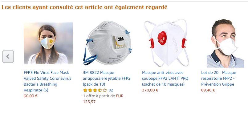 masque ffp3 3m virus