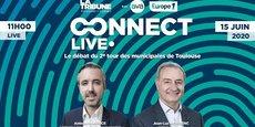Antoine Maurice et Jean-Luc Moudenc, candidats aux élections municipales à Toulouse, se retrouveront pour un second débat organisé par La Tribune, le 15 juin.