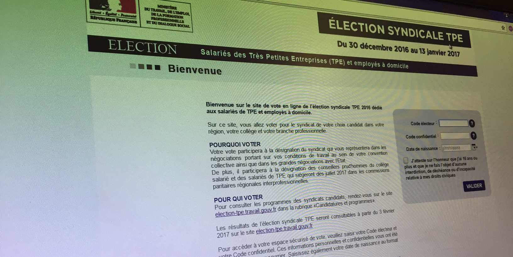 837847b9cf3 Elections syndicales TPE