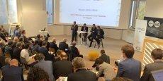 Mounir Abdel Nour, ancien Ministre du Commerce et de l'Industrie de l'Egypte, durant son intervention lors du petit-déjeuner de la Méditerranée et de l'Afrique, mardi 4octobre au hub Bpifrance, à Paris.