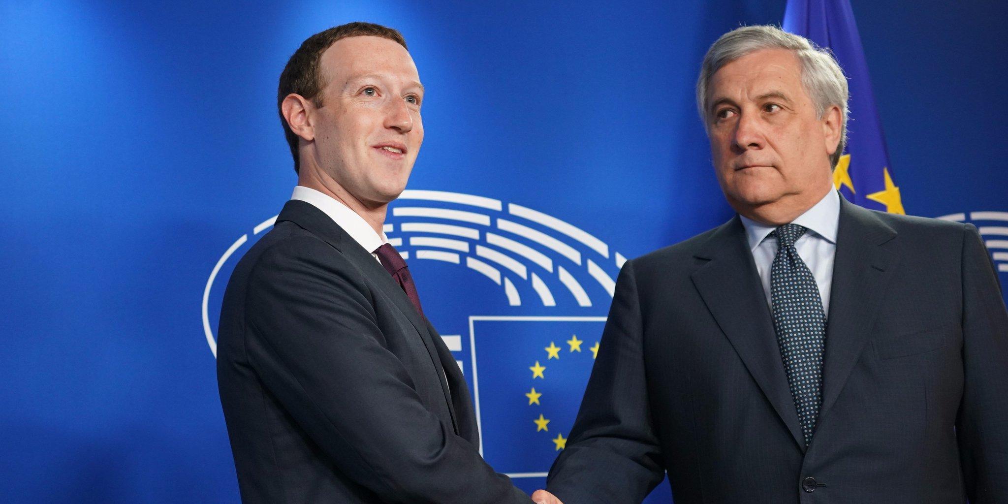 Suivez en direct l'audition de Mark Zuckerberg au Parlement européen