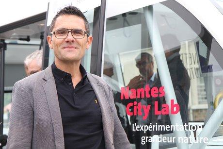 Francky Trichet, adjoint au numérique, porteur du Nantes City Lab, navette autonome électrique, Nantes city Lab, Frédéric Thual