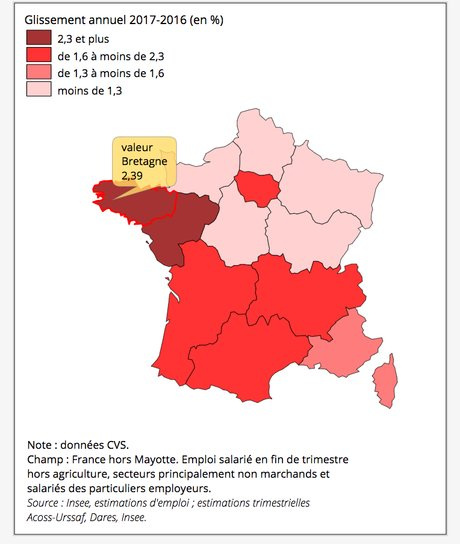 Bretagne, emploi, Insee,