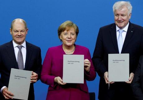 Merkel, Seehofer, Scholz, coalition, Allemagne,