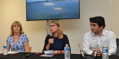 Conférence de presse de France pour la présentation du feuilleton Un si grand soleil le 12 juillet 2018
