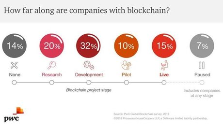 Blockchain sondage PwC