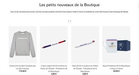 Elysée, boutique, produits dérivés, mug, t-shirt, made in France,