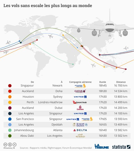 Statista, Ultra long range, graphique, avions, vols, à long rayon d'action, Airbus, Singapore Airlines,