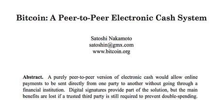 Bitcoin livre blanc Satoshi Nakamoto