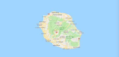 La Réunion, carte, Google Maps