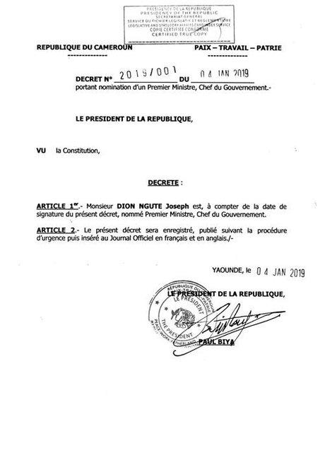 decret Biya