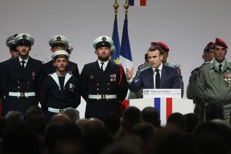 Voeux aux armées Macron Toulouse