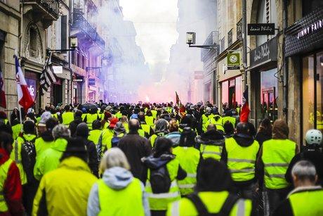 Gilets jaunes rue Sainte-Catherine