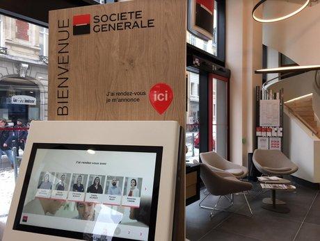 Société Générale agence Lille borne