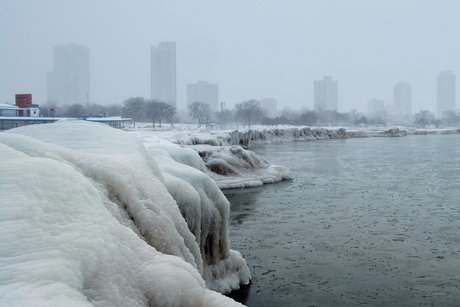 Chicago, vague de froid, climat