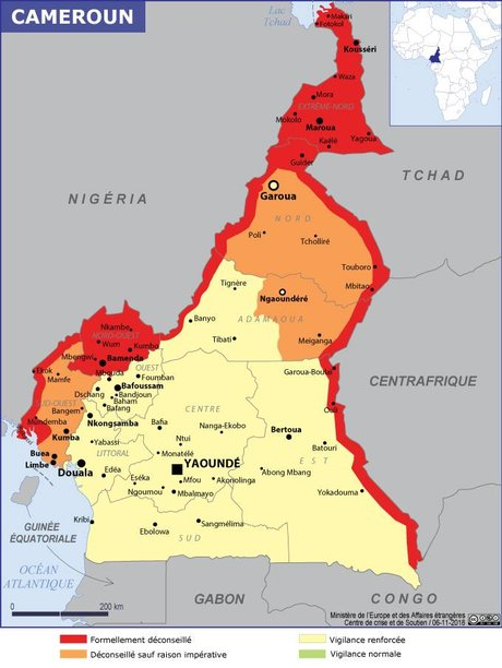 carte risques cameroun