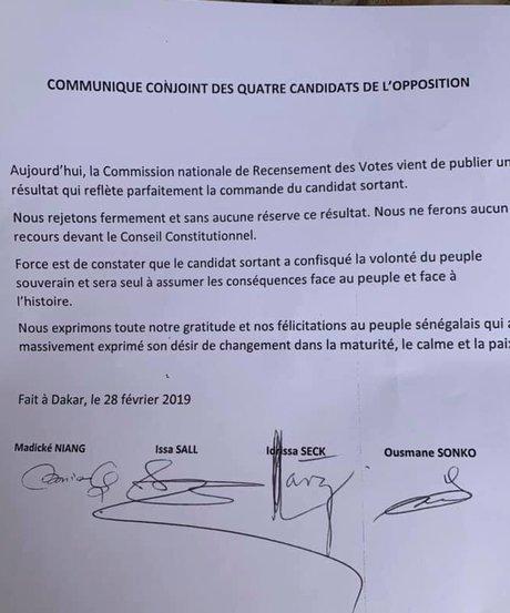 Senegal coalition opposition