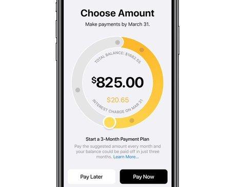 Apple Card paiement intérêts