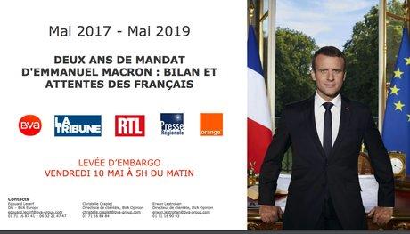 """EMMANUEL MACRON """"N'A RIEN FAIT"""" POUR RÉDUIRE LES RÉMUNÉRATIONS DES HAUTS FONCTIONNAIRES Couv-bva-sondage-deux-ans-de-mandat-emmanuel-macron-mai-2017-2019"""